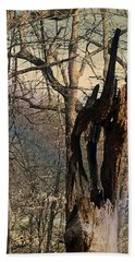 Abstract Dead Tree Beach Towel