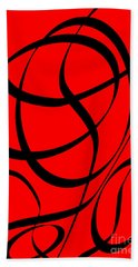 Abstract Design In Red And Black Beach Sheet