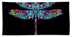 Abstract Dragonfly Beach Sheet