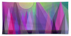 Abstract Elevation Beach Towel by Kathleen Sartoris