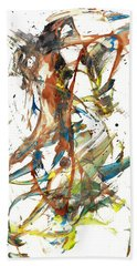 Beach Sheet featuring the painting Abstract Expressionism Painting Series 1039.050812 by Kris Haas