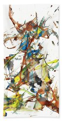 Beach Towel featuring the painting Abstract Expressionism Painting Series 1040.050812 by Kris Haas