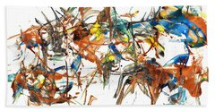 Beach Towel featuring the painting Abstract Expressionism Painting Series 1041.050812 by Kris Haas