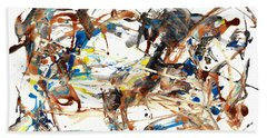 Beach Towel featuring the painting Abstract Expressionism Painting Series 1042.050812 by Kris Haas