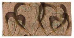 Abstract Floating Hearts Beach Towel
