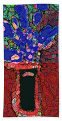 Abstract Floral Art 151 Beach Towel