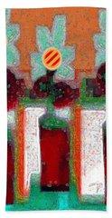 Abstract Floral Art 211 Beach Sheet
