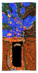 Abstract Floral Art 77 Beach Towel