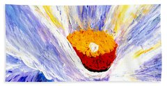 Abstract Floral Painting 001 Beach Towel