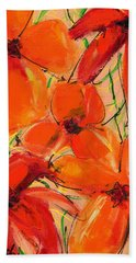 Abstract Floral Two Beach Sheet