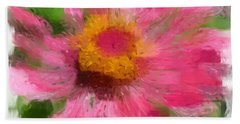 Abstract Flower Expressions Beach Towel