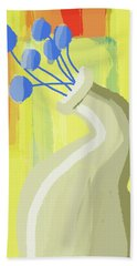 Abstract Flower Vase 2 Beach Towel by Keshava Shukla
