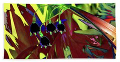 Abstract Flowers Of Light Series #10 Beach Towel