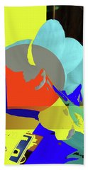 Abstract Flowers Of Light Series #14 Beach Towel