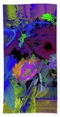 Abstract Flowers Of Light Series #18 Beach Towel