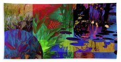 Abstract Flowers Of Light Series #21 Beach Towel