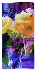Abstract Flowers Of Light Series #7 Beach Towel