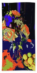 Abstract Flowers Of Light Series #8 Beach Towel