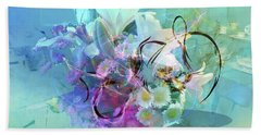 Abstract Flowers Of Light Series #9 Beach Towel