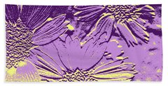 Abstract Flowers 3 Beach Towel