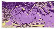 Abstract Flowers 3 Beach Sheet