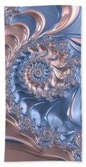 Abstract Fractal Art Rose Quartz And Serenity  Beach Sheet