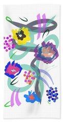 Beach Towel featuring the digital art Abstract Garden Nr 4 by Bee-Bee Deigner