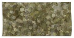 Beach Towel featuring the photograph Abstract Gold And Cream 2 by Clare Bambers