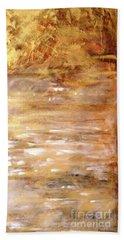 Abstract Golden Sunrise Beach  Beach Towel