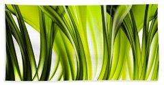 Abstract Green Grass Look Beach Towel