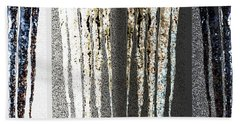 Abstract Icicles Beach Sheet by Will Borden