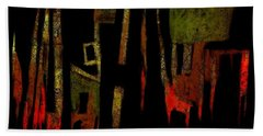 Abstract II - 19dec2016 Beach Towel by Jim Vance