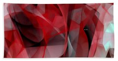 Beach Towel featuring the digital art Abstract In Red Black And White by Rafael Salazar