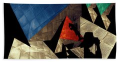 Beach Towel featuring the photograph Abstract Iterations by Wayne Sherriff