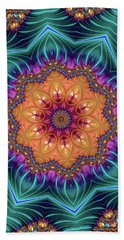 Beach Sheet featuring the digital art Abstract Kaleidoscope Art With Wonderful Colors by Matthias Hauser