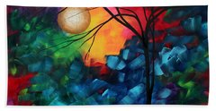 Abstract Landscape Bold Colorful Painting Beach Towel