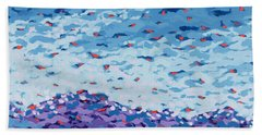 Abstract Landscape Painting 2 Beach Sheet