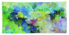 Beach Towel featuring the painting Abstract Landscape Painting by Ayse Deniz