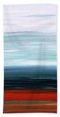 Abstract Landscape - Ruby Lake - Sharon Cummings Beach Towel by Sharon Cummings
