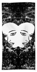 Beach Towel featuring the painting Abstract Majestic Lady 41115  by Mas Art Studio