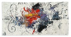 Abstract Melody Beach Towel
