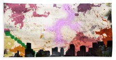 Beach Towel featuring the photograph Lightning Strikes  by Gary Smith