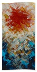 Abstract Blood Moon Beach Towel