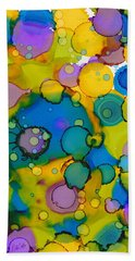 Beach Towel featuring the painting Abstract Microscope Party by Nikki Marie Smith