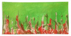 Abstract Mirage Cityscape In Green Beach Towel