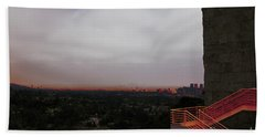 Abstract Mixed Media Getty View Los Angeles California  Beach Towel