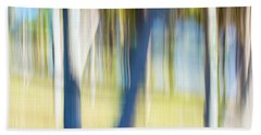 Abstract Moving Trees 30 Beach Towel