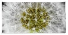 Abstract Nature Dandelion Floral Maro White And Yellow A1 Beach Towel