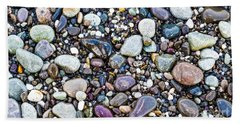Abstract Nature Tropical Beach Pebbles 871a Blue Purple Pink And Orange 871a Beach Towel