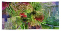 Beach Sheet featuring the digital art Abstract Of Color by Deborah Benoit